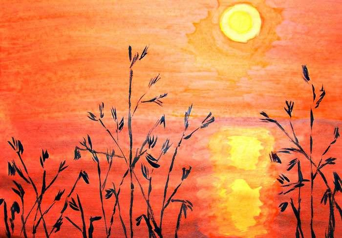 картинки карандашом летний вечер земле является