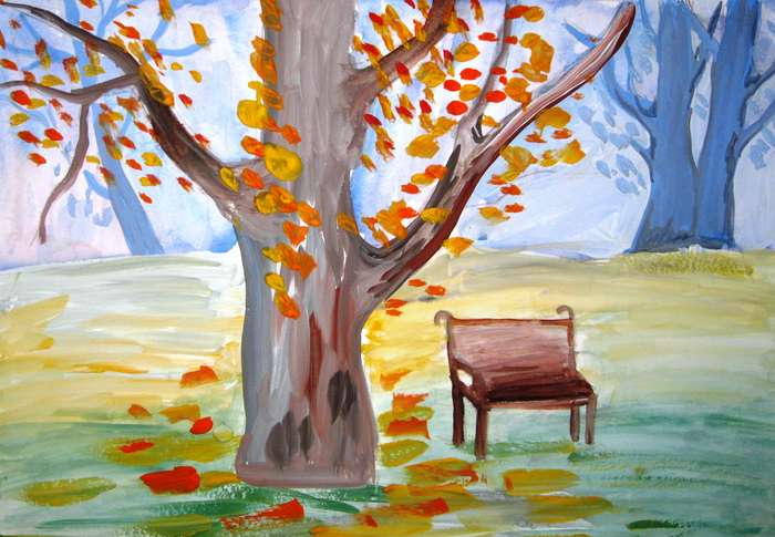 Осенние зарисовки рисунки дети