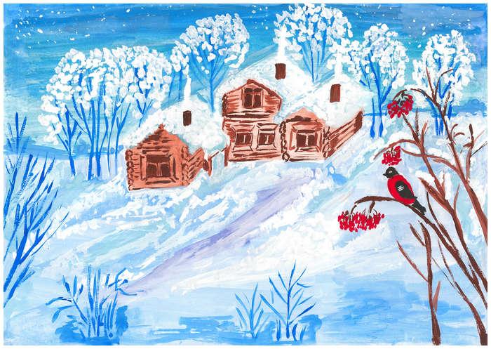 находилась стене рисунки на тему зимушка зима фото течение одного