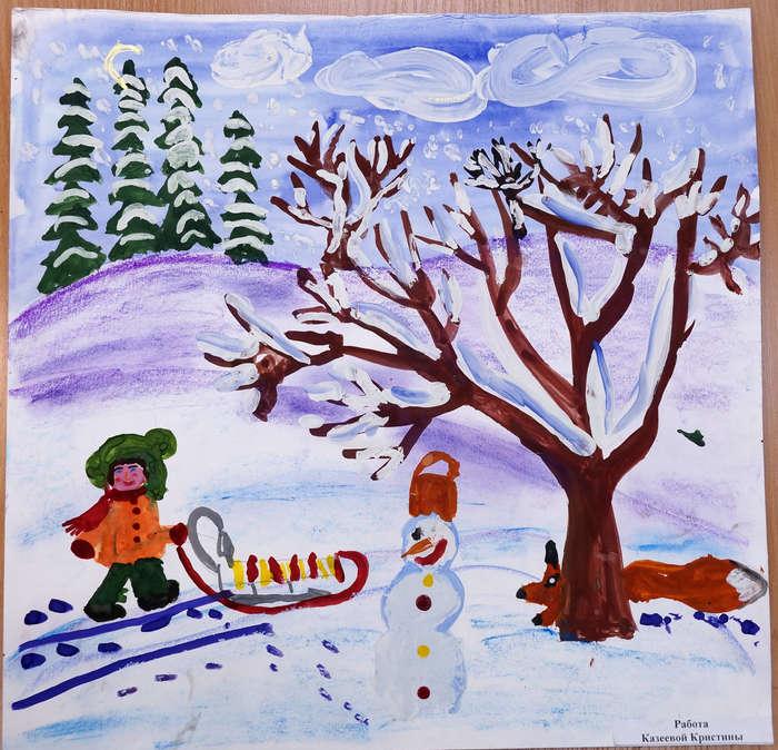 Зима зимушка картинки детские