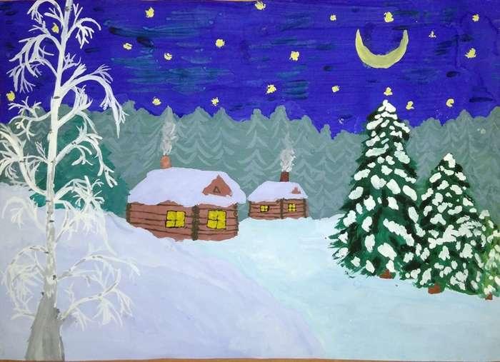 рисунок в первый класс на тему зима персидского языка это